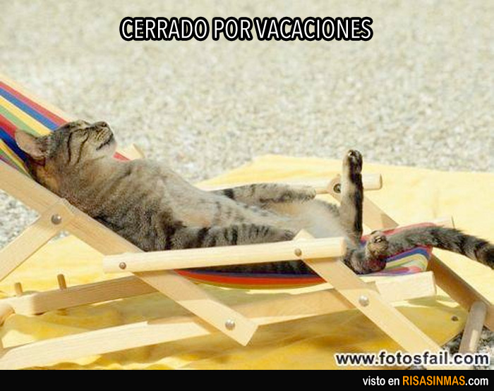 Imágenes graciosas cerrado por vacaciones