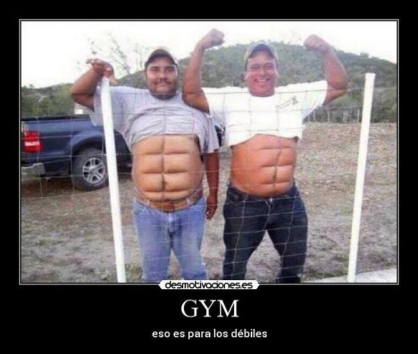 Imágenes graciosas en el gym
