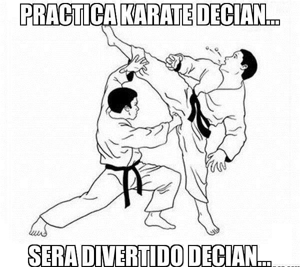 Imágenes graciosas karatecas