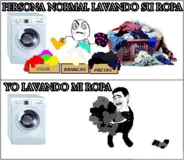 Imágenes graciosas lavando ropa